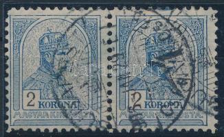 1904 Turul 2K vízszintes pár 11 1/2 sorfogazással (40.000)