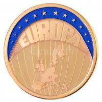 1999. Europa aranyozott fém emlékérem (30mm) T:PP 1999. Europa gold plated commemorative medallion (30mm) C:PP