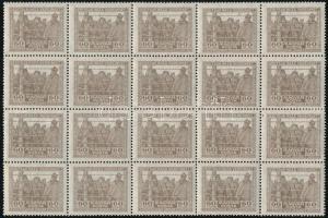 1920 Hadifogoly vegyes vízjelű sor huszas tömbökben (27.000)