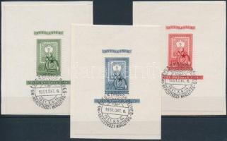 1951 80 éves a magyar bélyeg blokksor első napi bélyegzéssel (42.000)