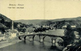 Konjic, Alte Stadt / old town, bridge, mosque. W. L. Bp. 4764. (EK)