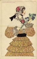 Lady with flowers. B.K.W.I. 131-3. s: Mela Koehler (EB)