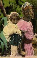 Mauresque et son Moutchachou / Moorish woman with her child, folklore