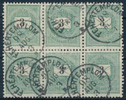 1889 3kr hatostömb FEHÉRTEMPLOM