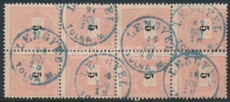1889 5kr nyolcastömb kék LENGYEL TOLNA M. (Gudlin 300 pont)
