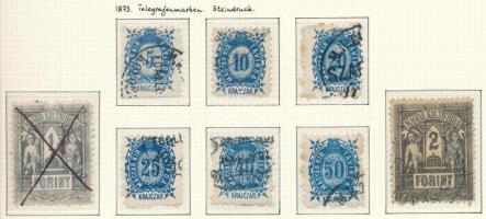 1873 Távírda kőnyomat használt sor (110.000)