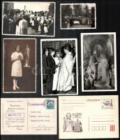 Vegyes vallásos fotó, képeslap, nyomtatvány tétel (11 db)