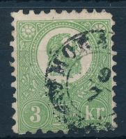 1871 Kőnyomat 3kr MORA(VICZA) (140.000)