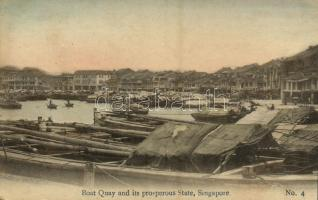 Singapore, Boat Quay and its prosperous State
