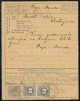 1889.04.25. Kétnyelvű 35kr zárt távirat, szép, stereo típusú 2 x 1kr + 12kr díjkiegészítéssel, a díjjegyes katalógus 1890-re hozza megjelenését