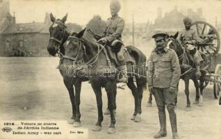 Voiture de guerre de lArmée Indienne / Indian Army, war cart, WWI military (small tear)