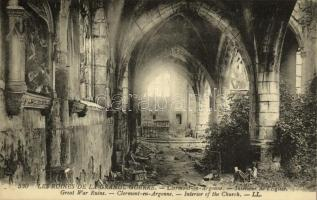 Clermont-en-Argonne, Les Ruines de la Grande Guerre, Intérieur de lÉglise / Great War Ruins, Interior of the Church