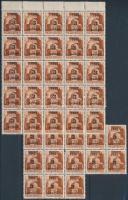 Nagyvárad I. 1945 Hadvezérek 3P/20f 38 db bélyeg összefüggésekben, garantáltan eredeti! 3 db III. tip. (21.300)