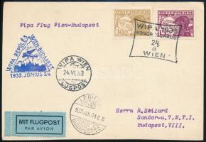 1933 WIPA repülés levelezőlap
