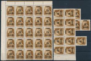 Nagyvárad I. 1945 Hadvezérek 3P/80f 39 db bélyeg összefüggésekben, garantáltan eredeti! (39.000)