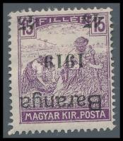 Baranya I. 1919 Arató 45f/15f fordított felülnyomással, Mirtl garancia bélyegzéssel (22.000)