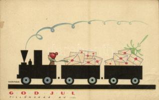 God Jul! / Christmas greeting art postcard. Axel Eliassons Konstförlag Nr. 1368. s: Nerman
