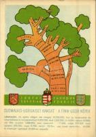 A finnugor népek; a Sugurahvaste Instituut (Rokonnépek Intézete) kiadása / Suomalais-Ugrilaiset Kansat / Finno-Ugric language family map (EK)