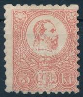 1871 Kőnyomat 5kr javított gumizással, alul pici elvékonyodás (*110.000) / Mi 3 (repaired gum, thin paper)