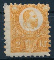 1871 Réznyomat 2kr narancs képbe fogazva (11.000)