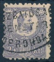 1871 Réznyomat 25kr ritka soproni postaigazgatósági bélyegzéssel