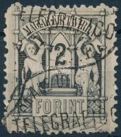 1874 Távírda réznyomat 2Ft 9 1/2-es fogazással (15.000)