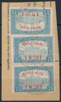 1918 Repülő posta 3 x 1K50f (22.500)
