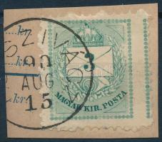 1881 Képbe és szélesre fogazott Színesszámú 3kr kivágáson (ÚJ-)SZIVÁCZ