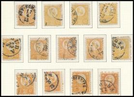 1871 Réznyomat 2kr 13 bélyeg, sokféle szin (33.000)