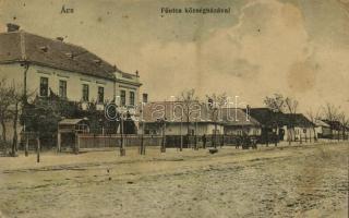 1917 Ács (Komárom), Fő utca, községháza (EK)