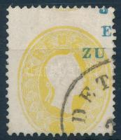 1861 Erősen képbe fogazott 2kr DET(TA)