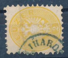 1864 2kr kék IHAROS(-BERÉNY) (Gudlin 400 pont) (hajott / folded)