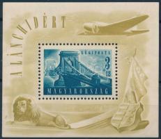 1948 Lánchíd II. blokk (30.000) (ráncok / creases)