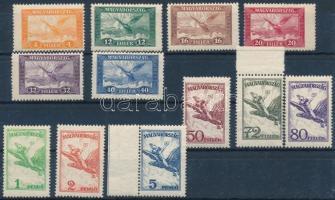 1927 Repülő sor (10.000) (néhány kis értéken ráncok / creases on 3 small values)