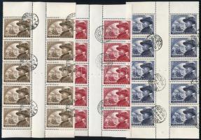 1950 Bem ívközéprészes tízes tömbök (12.500)