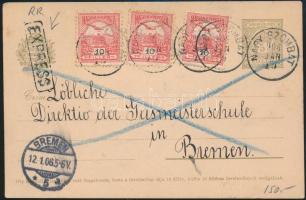 1906 Díjkiegészített díjjegyes expressz levelezőlap Brémába