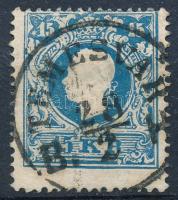 1858 15kr I. tipus, lemezhiba a bal felső értékszámnál TEMESVÁR B. H.