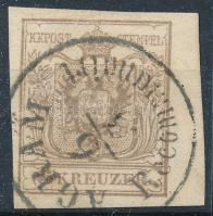 1850 6kr MP III. ívszéles bélyeg AGRAM Recommandirt