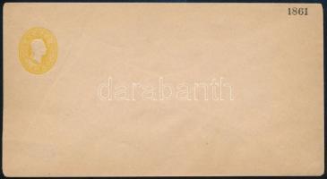 1861 Használatlan 20kr díjjegyes boríték