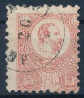 1871 Kőnyomat 5kr mindkét irányban elfogazva