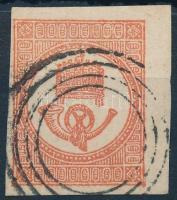 1871 Ívszéles kőnyomású Hírlapbélyeg bécsi érkezési némabélyegzéssel