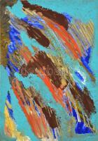 Makrai Bea(1984-): Cím nélkül. Akril, karton. Jelzett. 35x50 cm