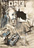 Bekő Judit (1955-): Tesztek. Akril, karton. Jelzett. 70x100 cm
