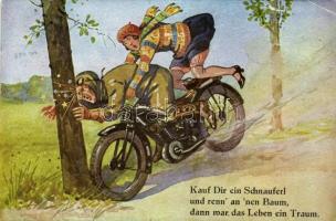 Kauf Dir ein Schnauferl... / Motorbike accident, humour. C.K.M. Nr. 2658. (fa)