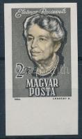 1964 Eleanor Roosevelt ívszéli vágott bélyeg