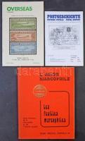Érdekes nemzetközi postatörténeti szakirodalom 3 db