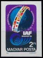1983 Asztronautikai Kongresszus vágott bélyeg