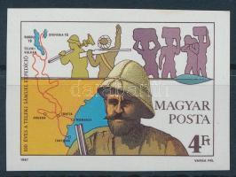 1987 Teleki Sámuel vágott bélyeg