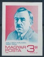 1989 Wallisch Kálmán vágott bélyeg (gumihiba / gum disturbance)