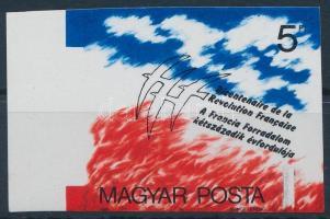 1989 A Francia Forradalom 200. évfordulója ívszéli vágott bélyeg